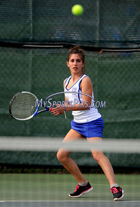 5/3/2011 Mike Orazzi | Staff Bristol Eastern's Sydney Randles during Tuesday's match with Tolland at BEHS.
