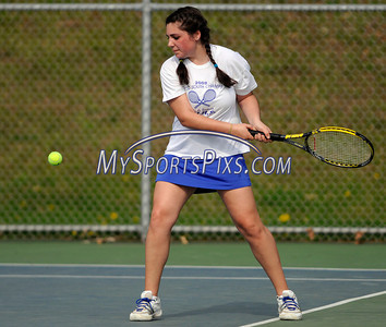 5/3/2011 Mike Orazzi | Staff Bristol Eastern's Kaylee Cifoneduring Tuesday's match with Tolland at BEHS.