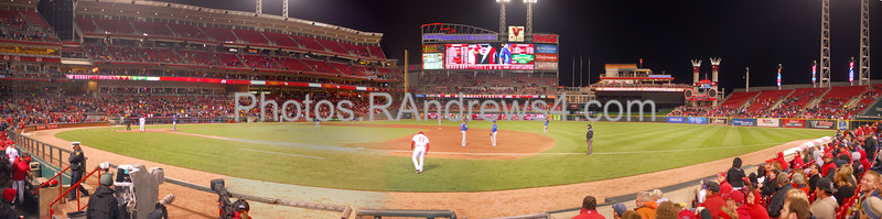 Great American Ballpark in Cincinnati during a game between the Chicago Cubs and the Cincinnati Reds on 5/16/2011.