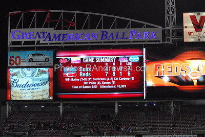 The Cincinnati Reds scored 7 runs in the 6th inning to defeat the Chicago Cubs on 5/16/2011.
