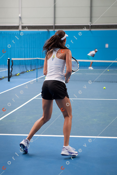 2011 Australian Open Tennis - Ana Ivanovic practices with Venus Williams on the indoor courts at Melbourne Park - photographer: Mark Peterson / corleve