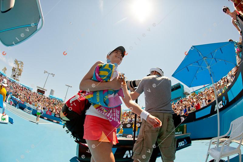 2011 Australian Open Tennis - photographer: Mark Peterson / corleve - BENESOVA, Iveta (CZE) vs KIRILENKO, Maria (RUS) [18]