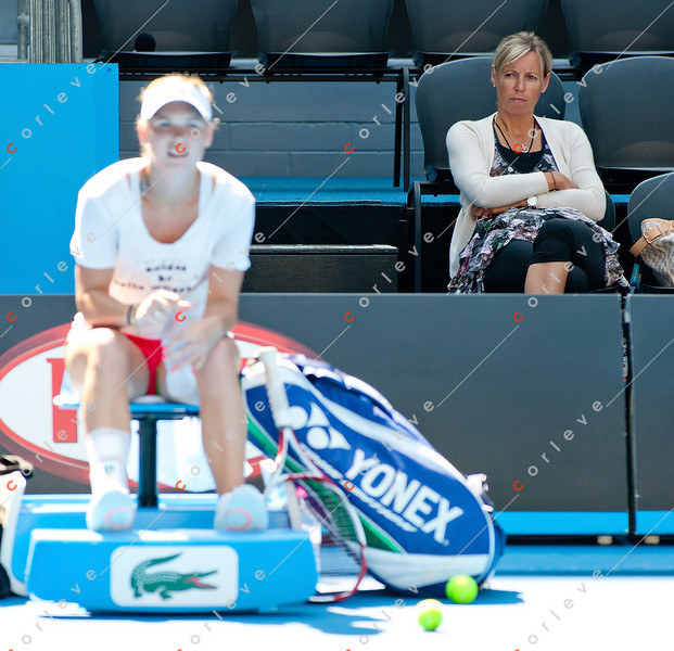 2011 Australian Open Tennis - Caroline Wozniacki practices at HiSense Arena - photographer: Mark Peterson / corleve