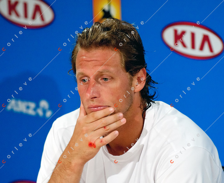 2011 Australian Open Tennis - photographer: Mark Peterson / corleve -NALBANDIAN, David (ARG) [27] vs BERANKIS, Richard (LTU)