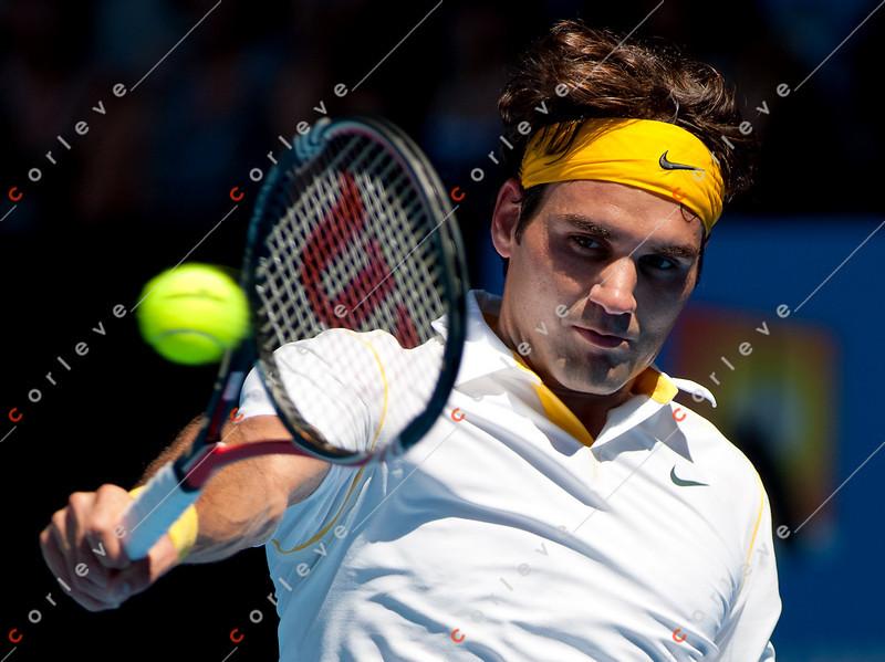 2011 Australian Open Tennis - photographer: Mark Peterson / corleve - ROBREDO, Tommy (ESP) vs FEDERER, Roger (SUI) [2]