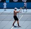 2011 Australian Open Tennis - Fernando Verdasco practicing on Margaret Court