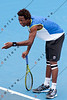 2011 Australian Open Tennis -  Gael Monfils practicing on Margaret Court