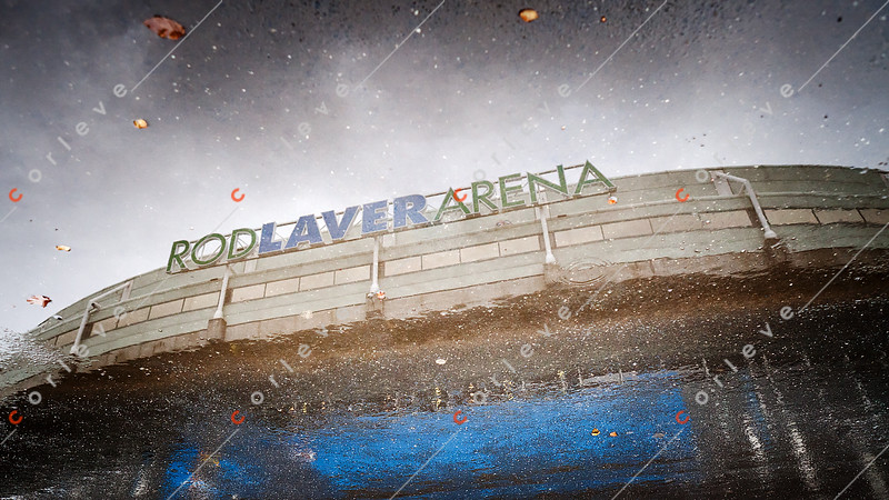 2011 Australian Open Tennis - A rainy start to practice day at Rod Laver - photographer: Mark Peterson / corleve