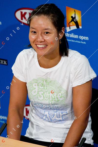 2011 Australian Open Tennis - photographer: Mark Peterson / corleve - NA, Li Pre Final Press Conference