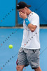 2011 Australian Open Tennis -  Lleyton Hewitt practicing on Margaret Court