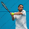 2011 Australian Open Tennis - Marcos Baghdatis practices indoors at Melbourne Park - photographer: Mark Peterson / corleve
