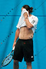 2011 Australian Open Tennis - Marcos Baghdatis practices indoors at Melbourne Park - photographer: Mark Peterson / corleve