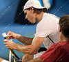 2011 Australian Open Tennis - Nadal practices with Peter Luczak at Rod Laver Arena - photographer: Mark Peterson / corleve
