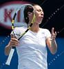 2011 Australian Open Tennis - PARRA SANTONJA, Arantxa (ESP) vs SCHIAVONE, Francesca (ITA) [6] - photographer: Mark Peterson / corleve