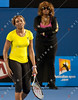 2011 Australian Open Tennis - Venus Williams practicing under a closed roof at Rod Laver