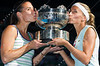 2011 Australian Open Tennis - photographer: Mark Peterson / corleve - DULKO, Gisela (ARG) /<br /> PENNETTA, Flavia (ITA) [1] vs<br /> AZARENKA, Victoria (BLR) /<br /> KIRILENKO, Maria (RUS) [12]