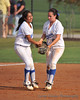 #3 Heavin-lee Rodriguez and #19 Shanti Poston celebrate the last out of the 2nd inning.