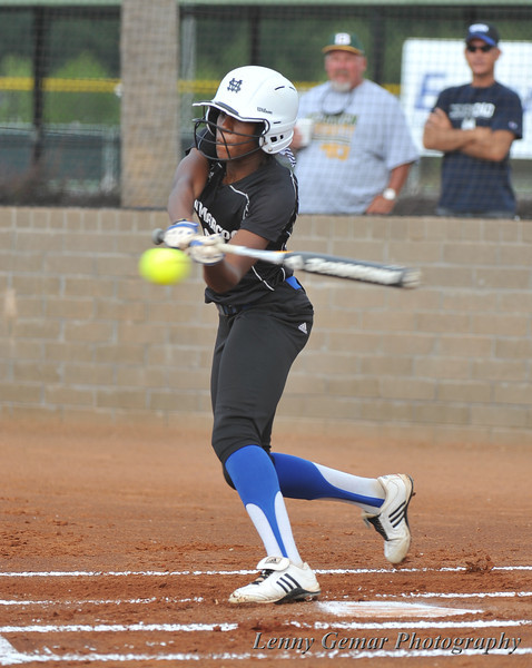 Top of the order, top of the 1st inning, #00 Derrisha Lacey strikes out swinging.