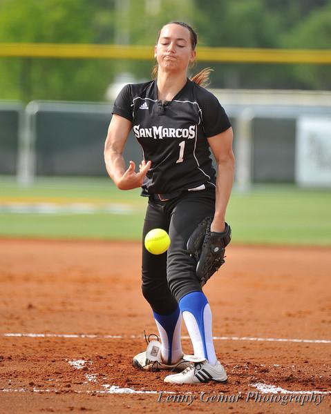 Starting pitcher #1 Brenna Sandberg
