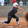 #22 Theresa Houle lays down a sacrifice bunt to advance Alyssa Dronenburg to 2nd  for the inning's first out.