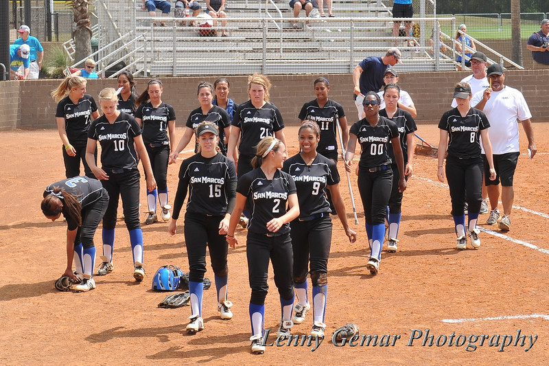 CSUSM prepares to vacate the field after winning 5-0 over Morningside.