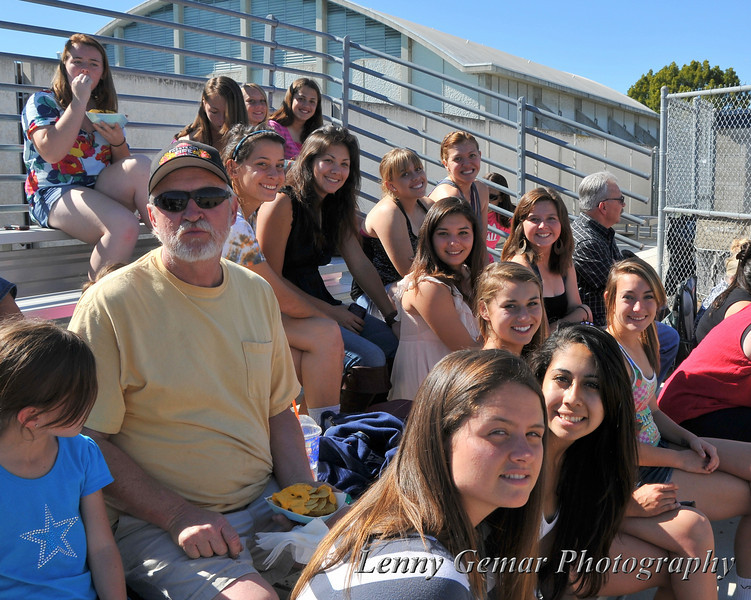 Clairemont High School 2011 softball watches Grossmont at Mesa.