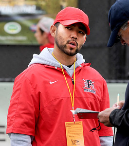 Fairview boys tennis coach, Chad Tsuda, at state finals in Denver. For more photos from state tennis, go to www.dailycamera.com. Cliff Grassmick  / October 13, 2012
