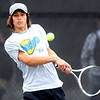 """Joey Diaz of Loveland plays in the finals of state tennis on Saturday.<br /> For more photos from state tennis, go to  <a href=""""http://www.dailycamera.com"""">http://www.dailycamera.com</a>.<br /> Cliff Grassmick  / October 13, 2012"""