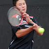 "Alec Leddon of Fairview plays in the finals of the no. 3 singles on Saturday.<br /> For more photos from state tennis, go to  <a href=""http://www.dailycamera.com"">http://www.dailycamera.com</a>.<br /> Cliff Grassmick  / October 13, 2012"