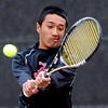 """Ignatius Castelino of Fairview plays in the finals of the no. 2 singles on Saturday in Denver.<br /> For more photos from state tennis, go to  <a href=""""http://www.dailycamera.com"""">http://www.dailycamera.com</a>.<br /> Cliff Grassmick  / October 13, 2012"""