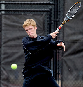 Connor Corrigan of Fairview at state in doubles. For more photos from state tennis, go to www.dailycamera.com. Cliff Grassmick  / October 13, 2012