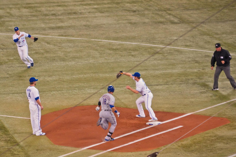 Out at first