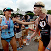 "Olympian, Laura Bennett, left, and Cameron Dye of Boulder, were the pro division winners of the Boulder Peak Triathlon on Sunday at the Boulder Reservoir.<br /> For more photos and a video from the Peak Triathlon, go to  <a href=""http://www.dailycamera.com"">http://www.dailycamera.com</a>.<br /> Cliff Grassmick / July 8, 2012"