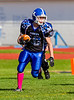 High School Varsity Football, Corning Hawks at Horseheads Blue Raiders, October 20, 2012.