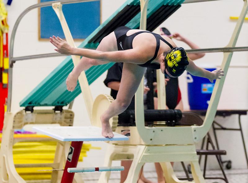 High School Girls Swimming, Elmira Express at Corning Hawks, September 7, 2012