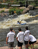 Spectator view during competition. Wausau Whitewater Park, Wisconsin