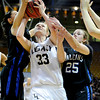 "Legacy High School's Courtney Smith goes for a shot over Highland Ranch's Kelsey Wainright, No. 25, during a Colorado State Semifinals game against Highlands Ranch High School on Wednesday, March 7,  at the Coors Event Center on the University of Colorado campus in Boulder. Legacy won the game 64-61. For more photos of the game go to  <a href=""http://www.dailycamera.com"">http://www.dailycamera.com</a><br /> Jeremy Papasso/ Camera"