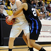 "Legacy High School's Caitlyn Smith fights for the ball with Highland Ranch's Ciera Morgan during a Colorado State Semifinals game against Highlands Ranch High School on Wednesday, March 7,  at the Coors Event Center on the University of Colorado campus in Boulder. Legacy won the game 64-61. For more photos of the game go to  <a href=""http://www.dailycamera.com"">http://www.dailycamera.com</a><br /> Jeremy Papasso/ Camera"