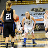 "Legacy High School's Emily Glen plays defense on Highland Ranch's Michaela Neuhaus during a Colorado State Semifinals game against Highlands Ranch High School on Wednesday, March 7,  at the Coors Event Center on the University of Colorado campus in Boulder. Legacy won the game 64-61. For more photos of the game go to  <a href=""http://www.dailycamera.com"">http://www.dailycamera.com</a><br /> Jeremy Papasso/ Camera"