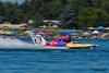 TRI-CITIES, WA - JULY 29: Kip Brown pilots the U-17 Our Gang Racing hydroplane at the Lamb Weston Columbia Cup July 29, 2012 on the Columbia River in Tri-Cities, WA.