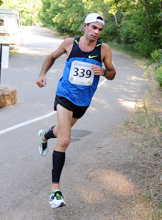 """Former Lyons High School stand out, Andrew Roberts, was second in the race.<br /> For more photos of the race, go to  <a href=""""http://www.dailycamera.com"""">http://www.dailycamera.com</a>. or  <a href=""""http://www.timescall.com"""">http://www.timescall.com</a>.<br /> Cliff Grassmick / June 24, 2012"""