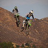Tyla Rattray pressures Joshua Grant in 450 Moto 2 at Lake Elsinore - 8 Sept 2012