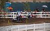 Eli Tomac pressures Justin Barcia in 250 Moto 1 at Lake Elsinore - 8 Sept 2012