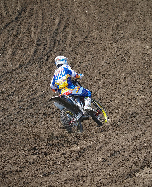 Mike Alessi leads 450 Moto 1 at Lake Elsinore - 8 Sept 2012