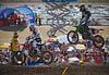 Blake Baggett pressures Justin Barcia in 250 Moto 1 at Lake Elsinore - 8 Sept 2012