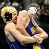 "Boulder High School's Axel Wessell wrestles Fountain/ Fort Carson's Josh Schoenberger during the Class 5A 182-pound championship match on Saturday, Feb. 18, during the 2012 Colorado State Wrestling Championships at the Pepsi Center in Denver. Wessell lost the match. For more photos of the Championship matches go to  <a href=""http://www.dailycamera.com"">http://www.dailycamera.com</a><br /> Jeremy Papasso/ Camera"