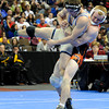 "Broomfield High School's Nick Babcock gets taken down by Erie High School's Clay Bunker during the Class 4A 152-pound championship match on Saturday, Feb. 18, during the 2012 Colorado State Wrestling Championships at the Pepsi Center in Denver. Babccock won the match to clench the state title. For more photos of the Championship matches go to  <a href=""http://www.dailycamera.com"">http://www.dailycamera.com</a><br /> Jeremy Papasso/ Camera"
