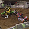 Ryan Dungey pressures Ryan Vilopoto in Main Event Moto 2 - 20 Oct 2012