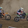 Challen Tennant pressures Austin Forkner in Super Mini Moto 2 - 20 Oct 2012