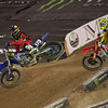 Shane McElrath pressures Cooper Web in Amateur All-Star Moto 1 - 20 Oct 2012